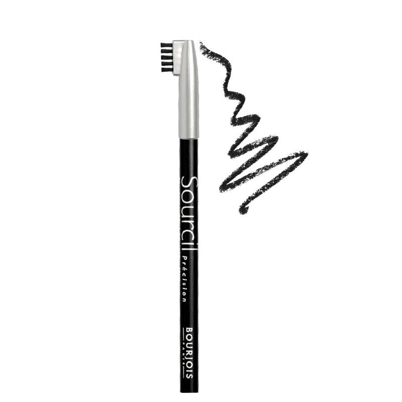 مداد ابرو برس دار بورژوآ مدل Sourcil شماره 01 - مشکی
