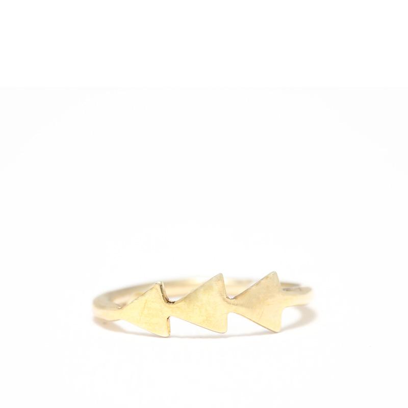 انگشتر3 مثلث طلایی یسمینه