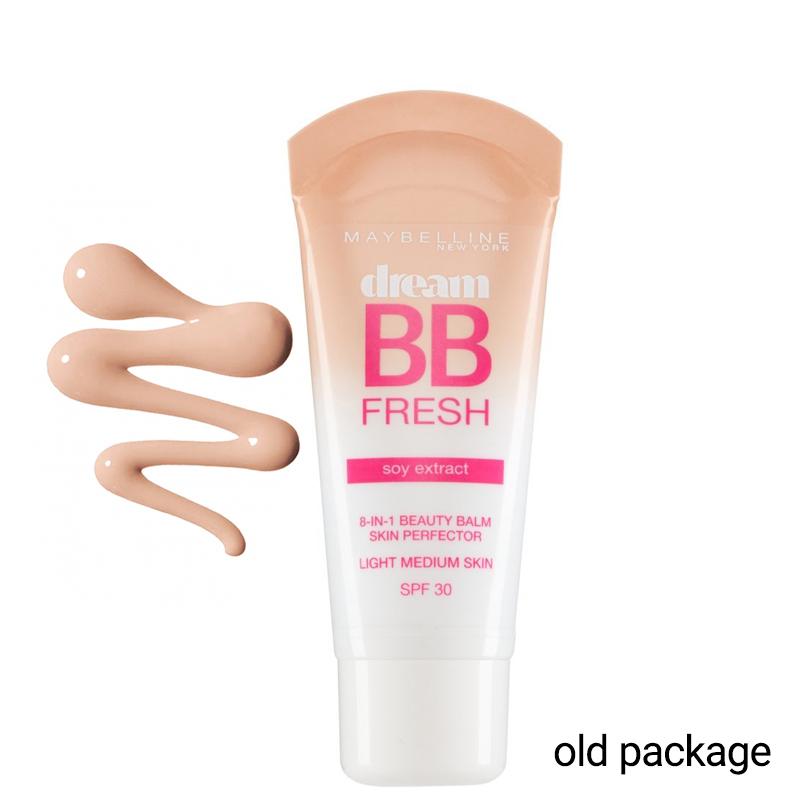 BB کرم میبلین مدل Dream BB Fresh با SPF30 حجم 30 میل  - گندمی