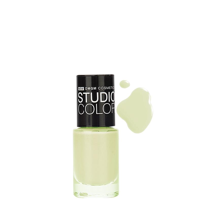 لاک ناخن دی ام جی ام مدل Studio Color شماره 06 - سبز خیلی روشن