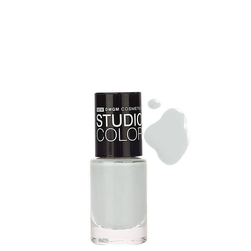 لاک ناخن دی ام جی ام مدل Studio Color شماره 07 - آبی خیلی روشن