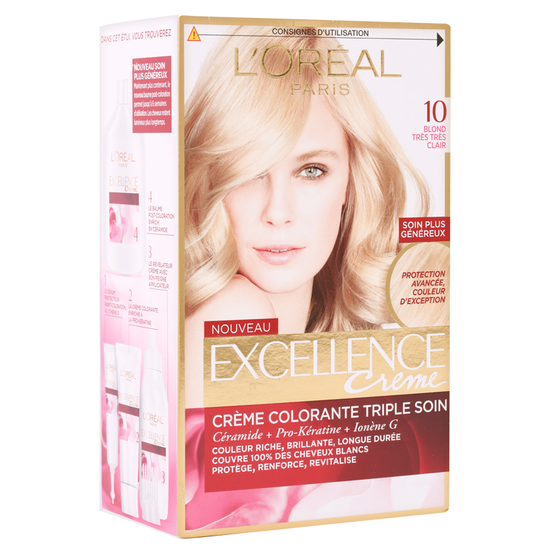 کیت رنگ مو لورال پاریس مدل Excellence  شماره 10.0 حجم 50 میل - بلوند فوق العاده روشن