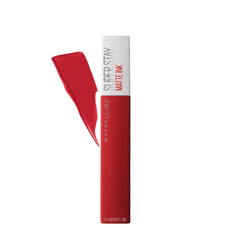 رژ لب مایع مات میبلین مدل Super Stay شماره 20 - قرمز