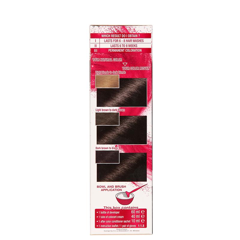 کیت رنگ مو گارنیه مدل Color Sensation شماره 3.0 - قهوه ای تیره