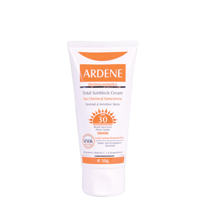 کرم ضد آفتاب رنگی ضد آب آردن با SPF 30