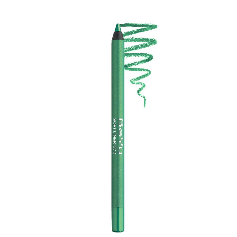 مداد چشم ضد آب بی یو مدل Soft Liner شماره 672 - سبز روشن