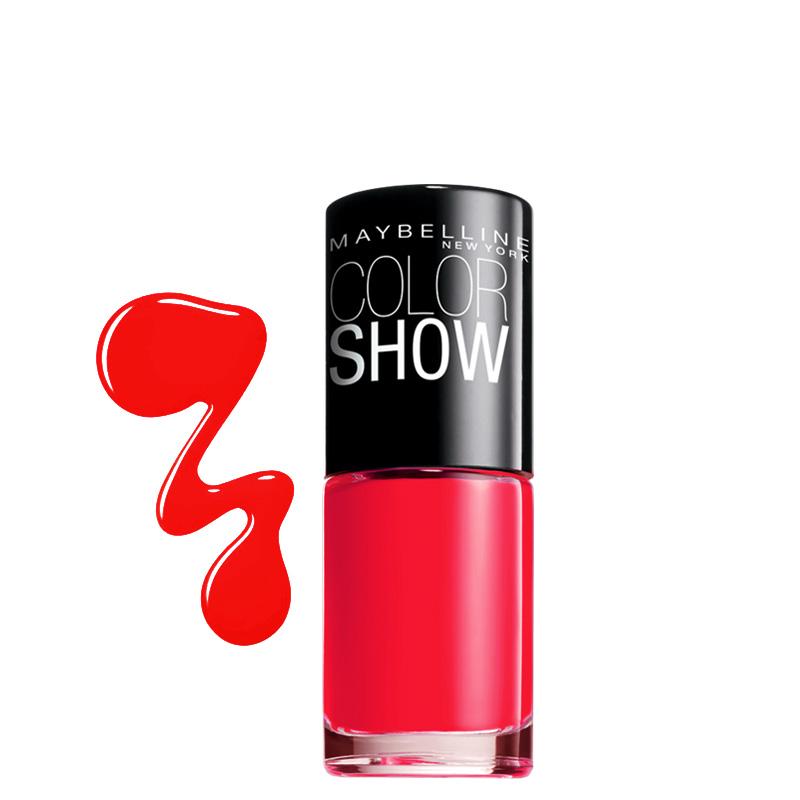 لاک ناخن میبلین مدل Color Show شماره 349 - قرمز پر رنگ