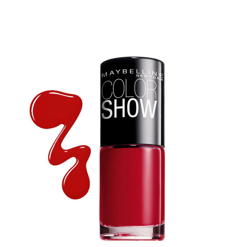 لاک ناخن میبلین مدل Color Show شماره 352 - قرمز تیره