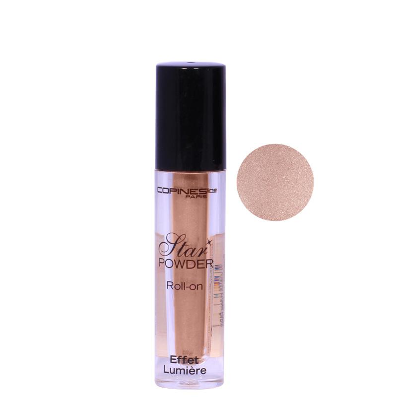 سایه چشم براق رولی کُپین مدل Star Powder شماره 02 - طلایی