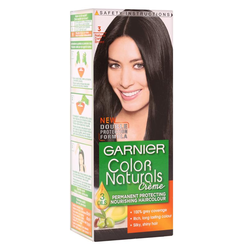 کیت رنگ مو گارنیه مدل Color Naturals شماره 3.0 - قهوه ای تیره