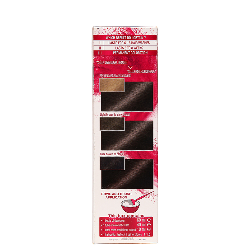 کیت رنگ مو گارنیه مدل Color Sensation شماره  4.0  - قهوه ای