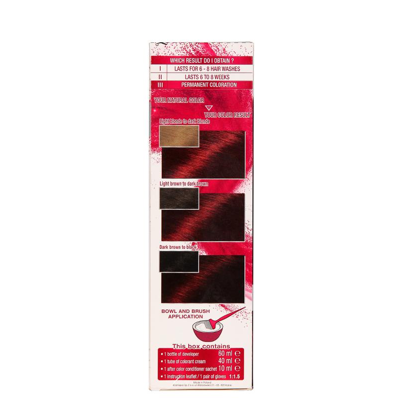 کیت رنگ مو گارنیه مدل Color Sensation شماره 4.60 - قرمز تیره براق