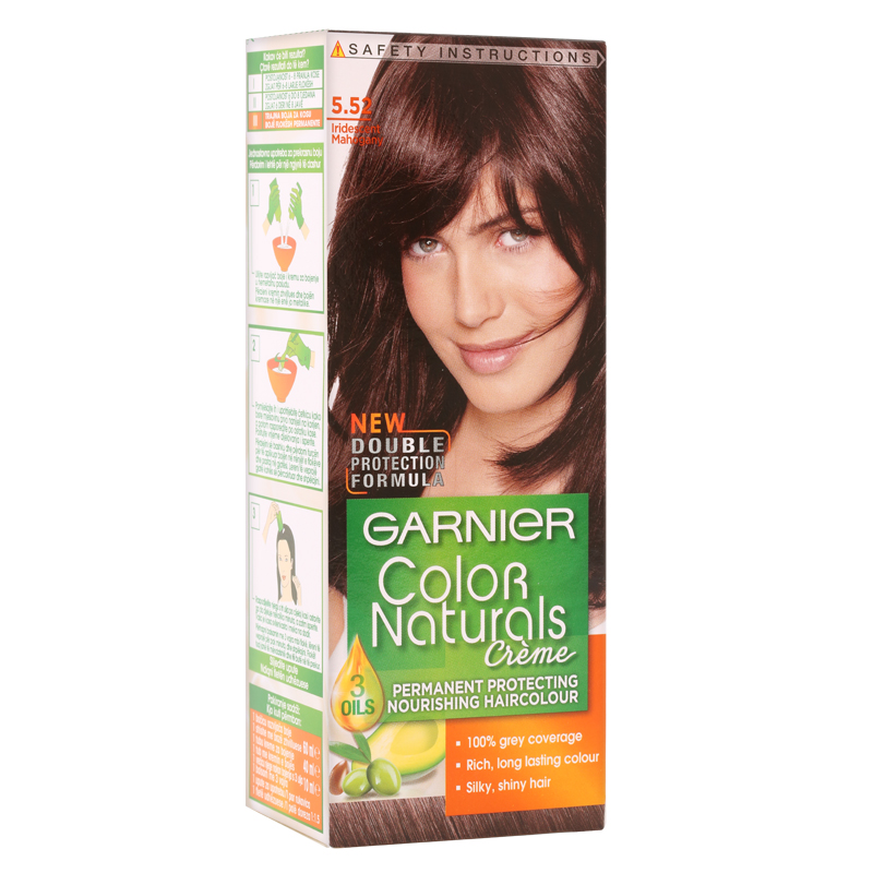 کیت رنگ مو گارنیه مدل Color Naturals شماره 5.52 - ماهاگونی