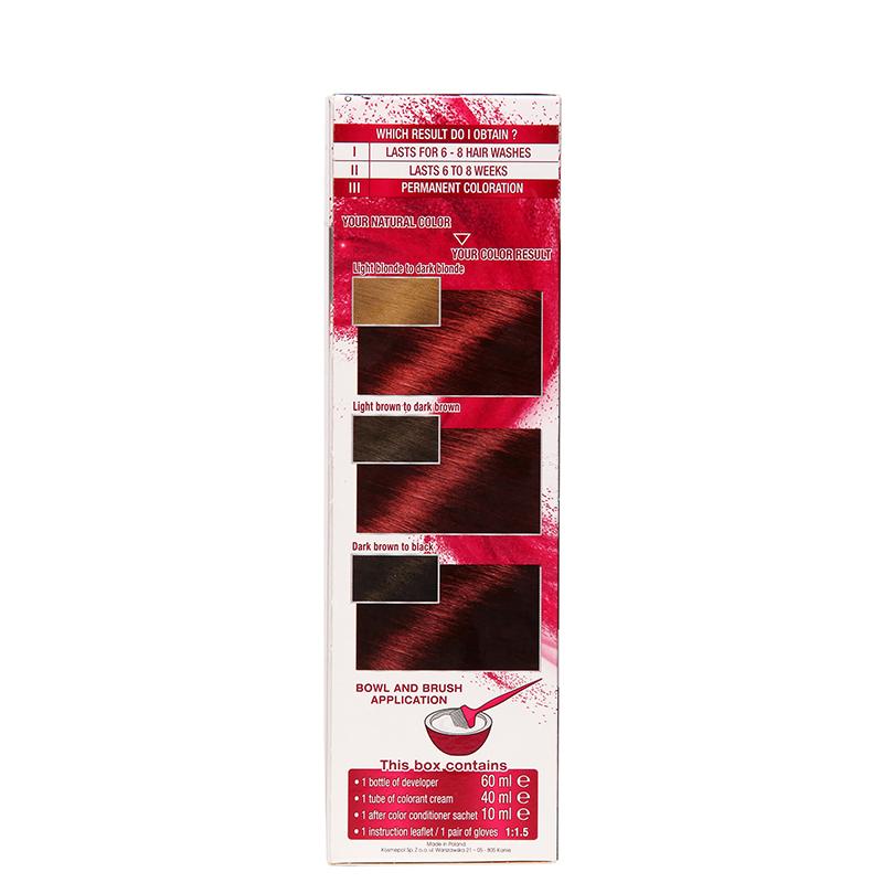کیت رنگ مو گارنیه مدل Color Sensation شماره 5.62 - قرمز زرشکی