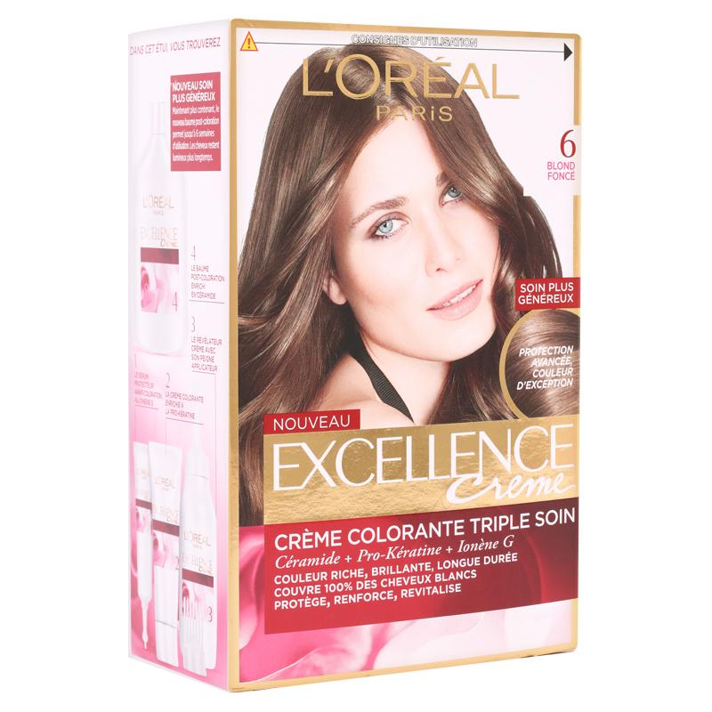 کیت رنگ مو لورال پاریس مدل Excellence  شماره 6.0 حجم 50 میل - بلوند تیره