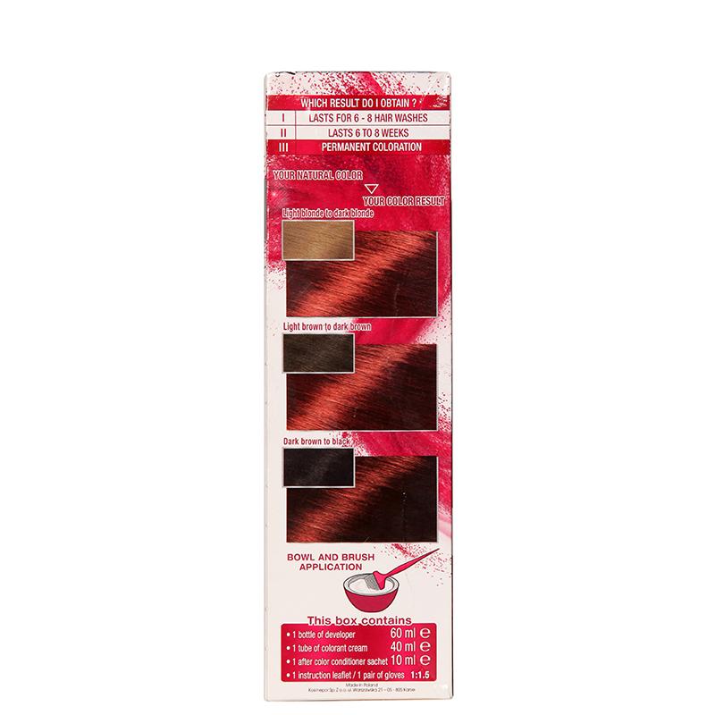 کیت رنگ مو گارنیه مدل Color Sensation شماره 6.60 - قرمز تیره
