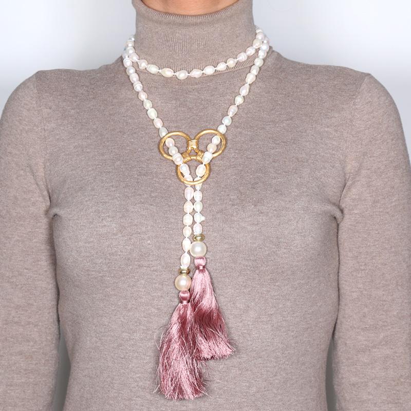 گردنبند مروارید کولوکو مدل Bermudas Perla Rosa