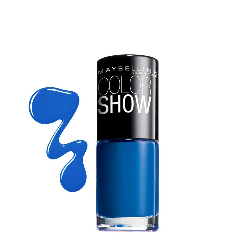 لاک ناخن میبلین مدل Color Show شماره 654 - آبی تیره