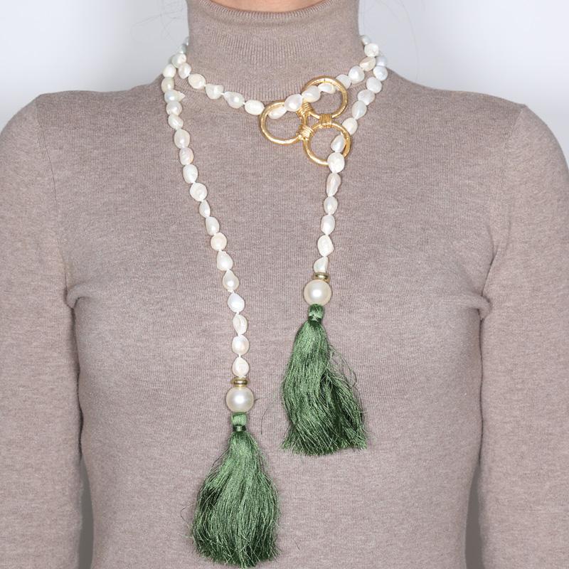گردنبند مروارید کولوکو مدل Bermudas Perla Verde