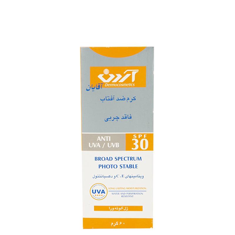 کرم ضد آفتاب فاقد چربی آقایان آردن با SPF 30 حجم 60 گرم