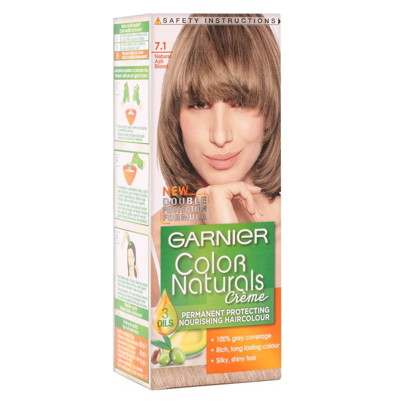 کیت رنگ مو گارنیه مدل Color Naturals شماره 7.1 - بلوند با انعکاس دودی