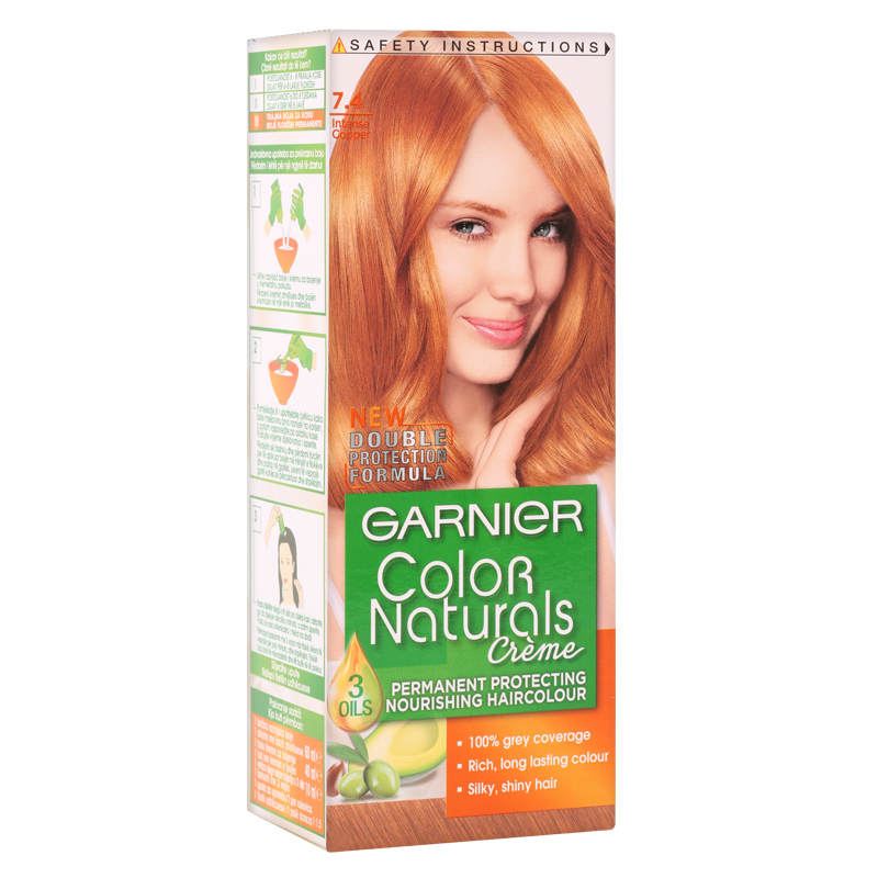 کیت رنگ مو گارنیه مدل Color Naturals شماره 7.4 - بلوند مسی