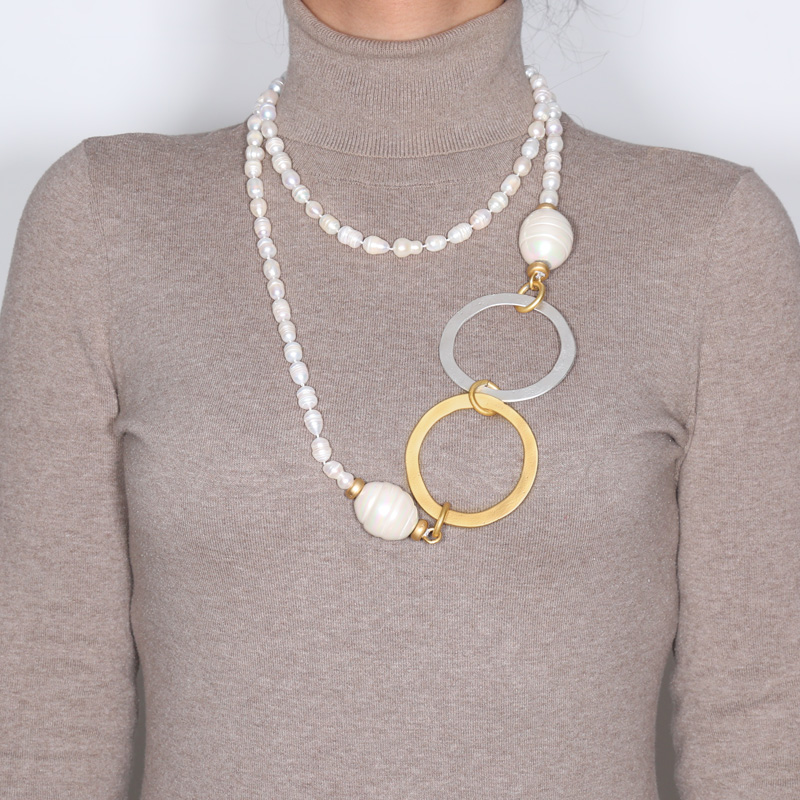 گردنبند مروارید کولوکو مدل Tokio Dos Perlas