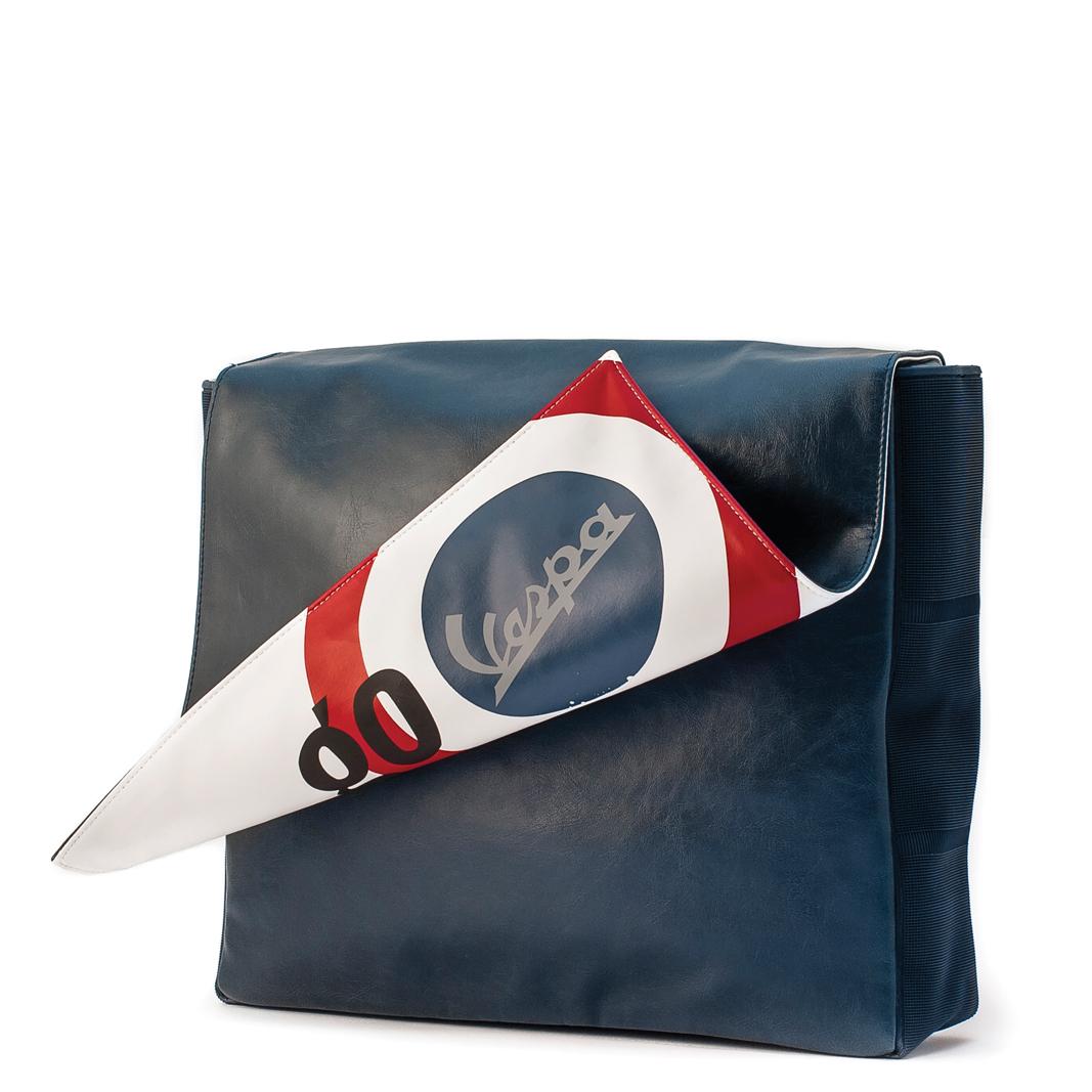 """کیف دوشی سرمه ای وسپا مدل"""" GO Vespa"""""""