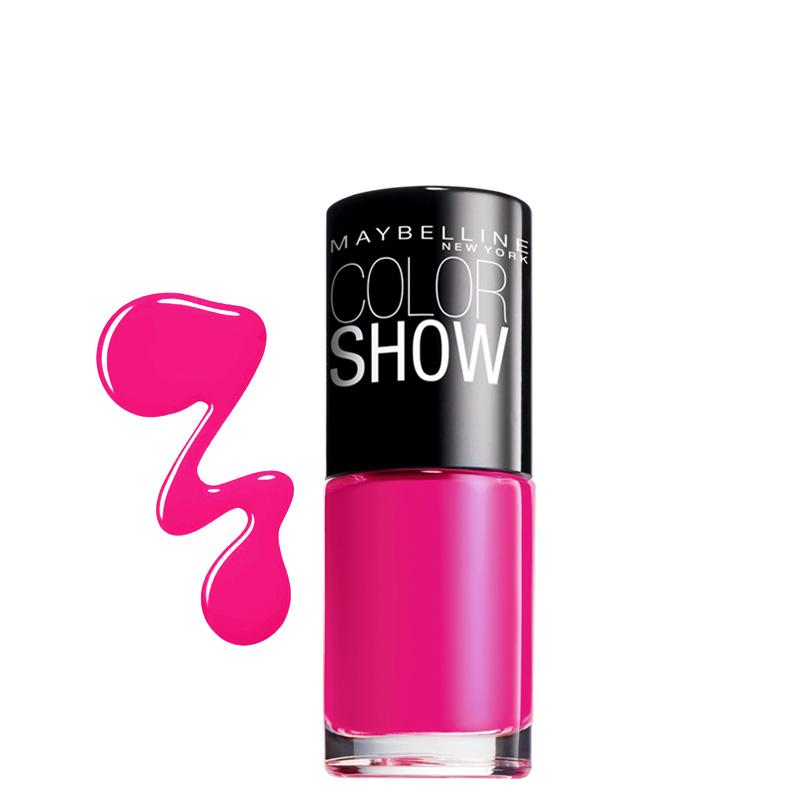 لاک ناخن میبلین مدل Color Show شماره 83 - صورتی پر رنگ