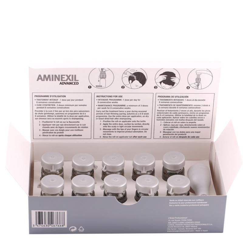 پک کپسول 10 تایی ضدریزش مو لورال پروفشنال مدل Aminexil Advanced حجم 6*10 میل