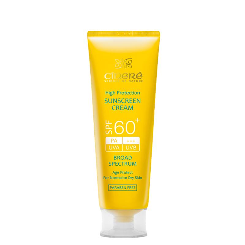 کرم ضد آفتاب سینره مناسب پوست های نرمال و خشک با +SPF60 حجم 50 میل - بی رنگ