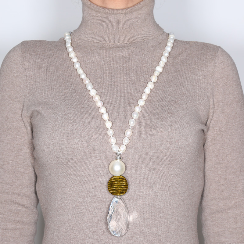 گردنبند مروارید کولوکو مدل Tokio Cuatro Perlas