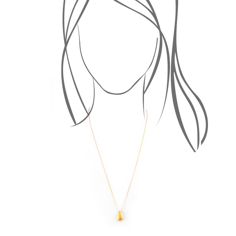 گردنبند اشک بزرگ طلایی یسمینه