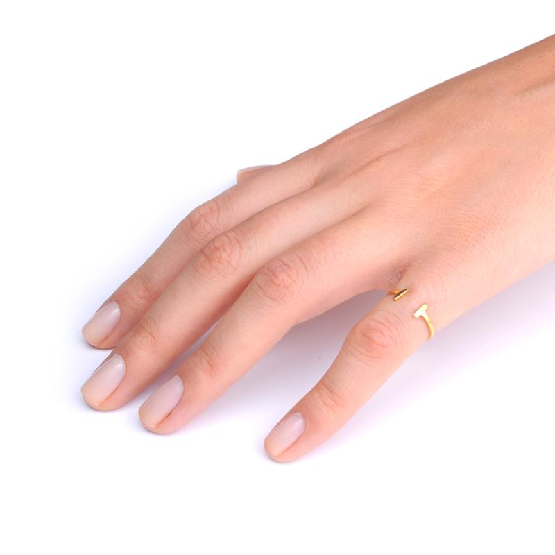 انگشتر pause طلایی یسمینه