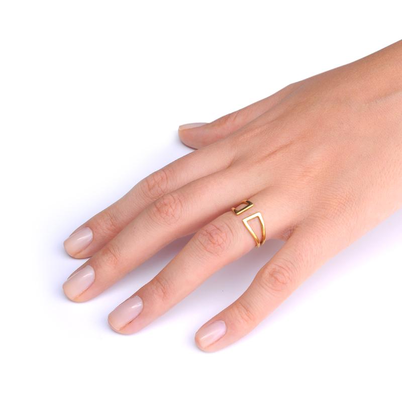 انگشتر hammerhead طلایی یسمینه