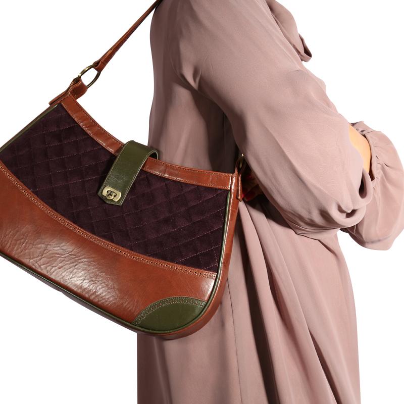 کیف دست ساز H&A مدل ماه سیما