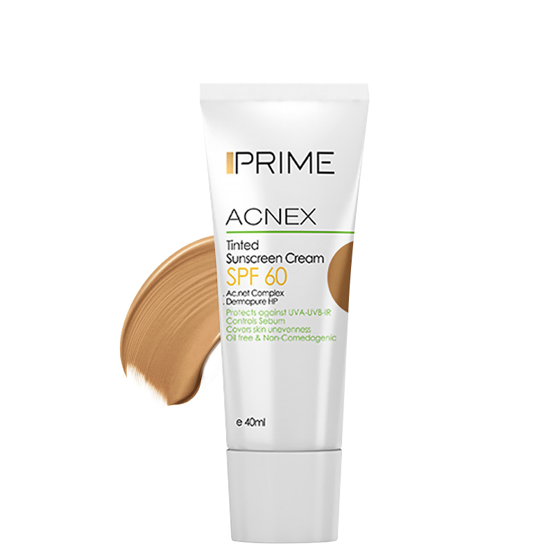 کرم ضد آفتاب رنگی فاقد چربی پریم مدل Acnex
