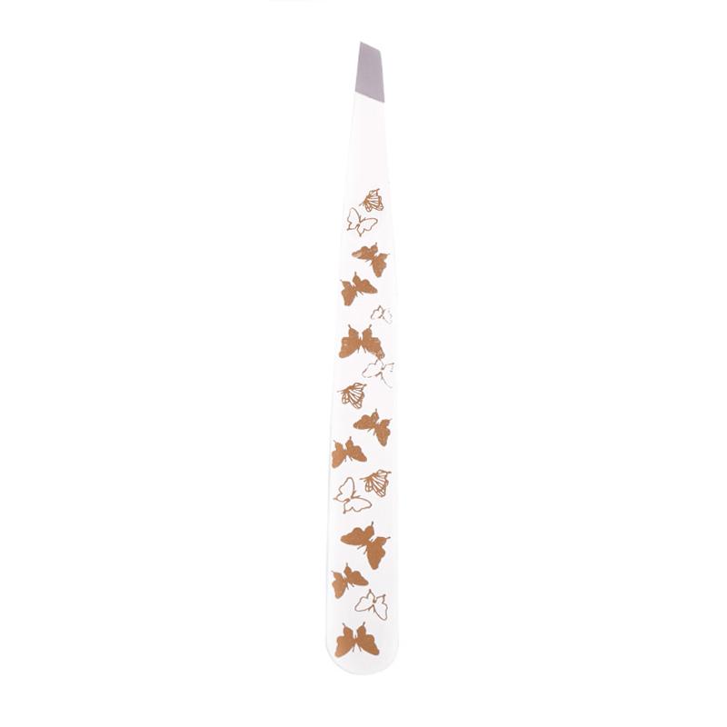 موچین بیوتی با طرح پروانه - سفید