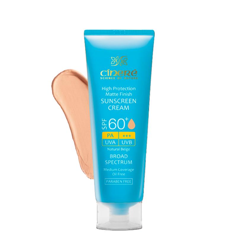 کرم ضد آفتاب مات رنگی سینره مناسب پوست های چرب و جوش دار با +SPF60 حجم 50 میل - بژ طبیعی