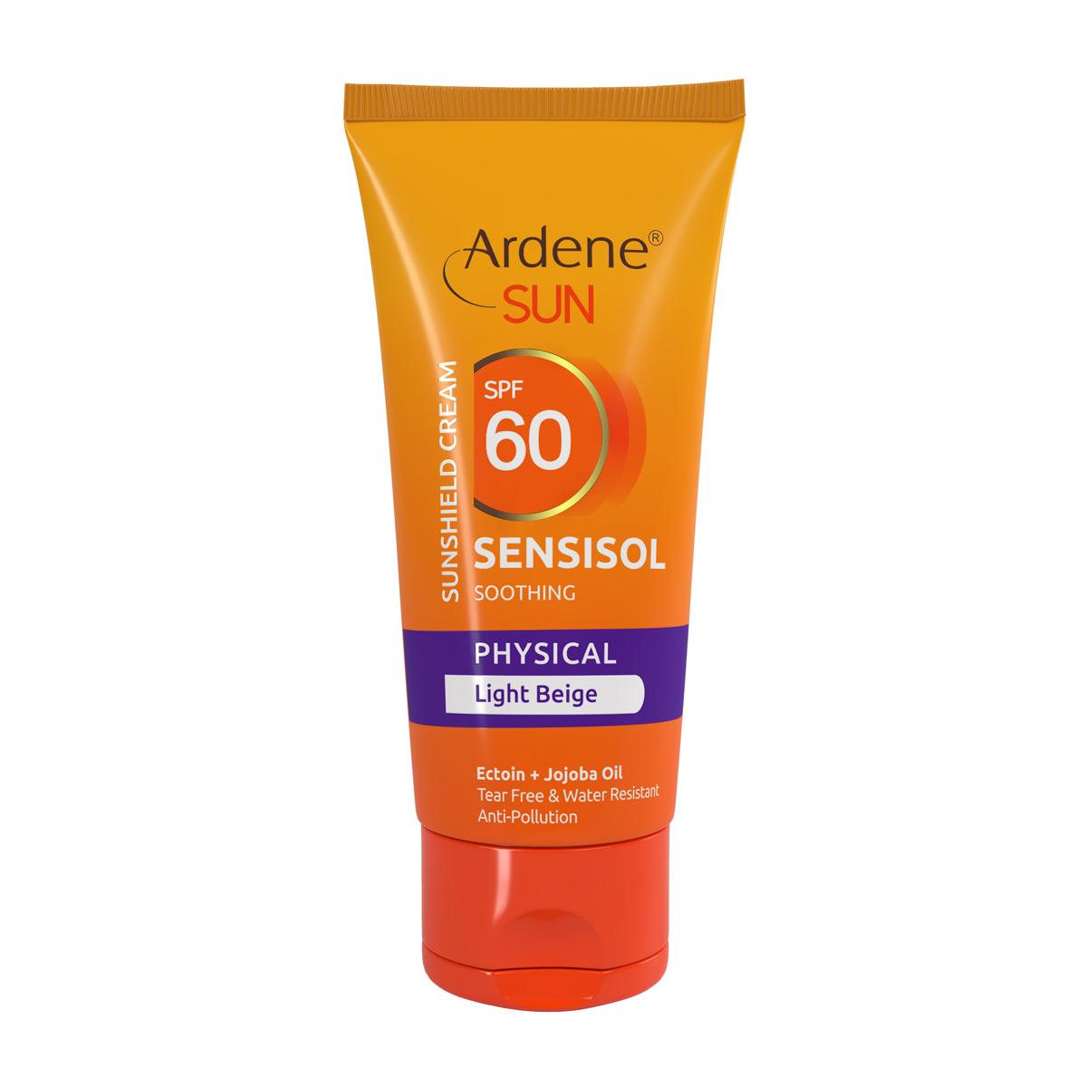 کرم ضد آفتاب رنگی SPF60 فیزیکال آردن مدل Sensisol حجم 50 میل- بژ روشن