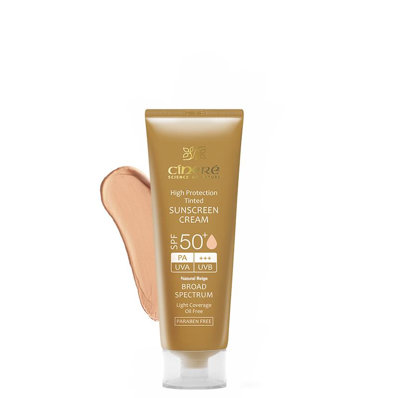 کرم ضد آفتاب سینره مناسب انواع پوست با +SPF50 حجم 50 میل - بژ طبیعی