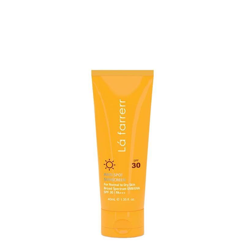 کرم ضد آفتاب و ضد لک لافارر مناسب پوست های خشک و معمولی با SPF30 حجم 40 میل - بی رنگ