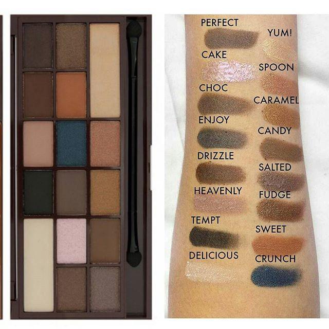 پالت سایه چشم 16 رنگ رولوشن مدل Salted Caramel
