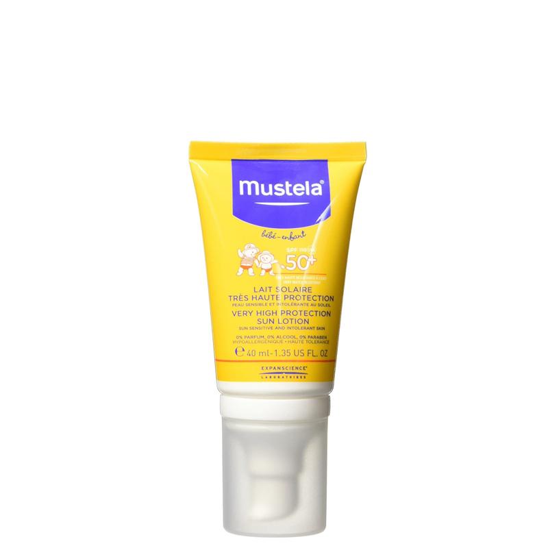 لوسیون ضد آفتاب کودک موستلا با +SPF50 حجم 40 میل
