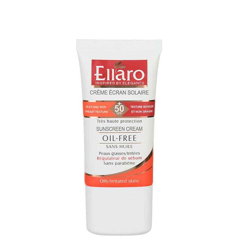 كرم ضد آفتاب فاقد چربی اِلارو با +SPF 50 حجم 40 میل - بدون رنگ