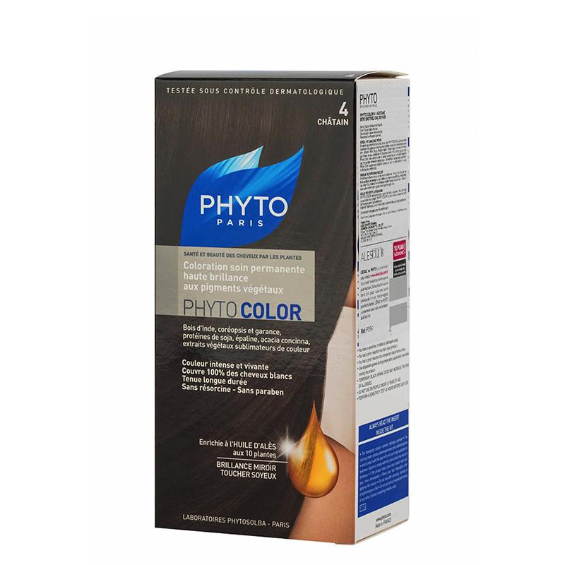 کیت رنگ مو فیتو مدل PhytoColor حجم 40 میل شماره 4 - فندقی
