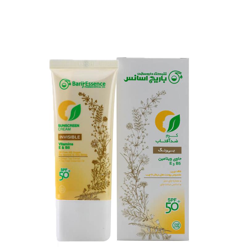 کرم ضد آفتاب باریج اسانس مناسب پوست های نرمال تا چرب با +SPF50 حجم 60 میل - بی رنگ