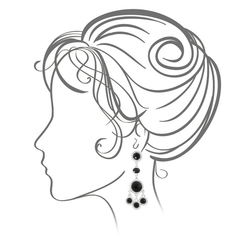گوشواره ادوریتا مدل Piedra Negra