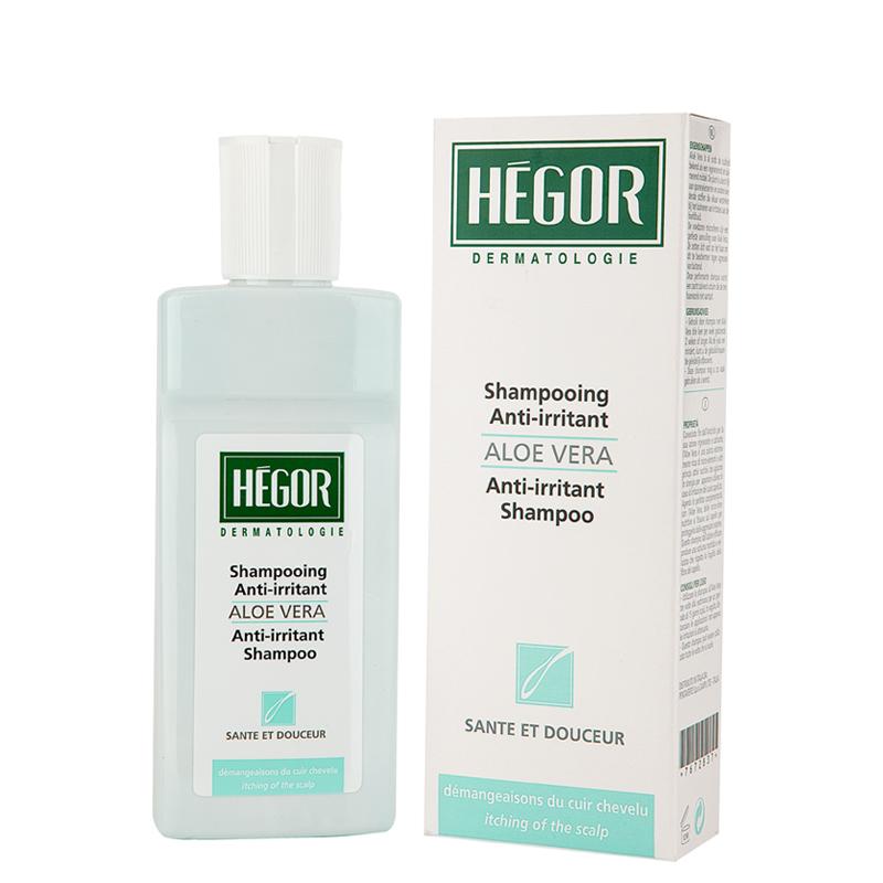 شامپو تسکین دهنده و ضد حساسیت آلوئه ورا مخصوص موی حساس هگور