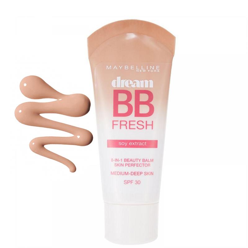 BB کرم میبلین مدل Dream BB Fresh با SPF30 حجم 30 میل - تیره
